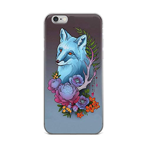 (iPhone 6 Plus/6s Plus Pure Clear Case Cases Cover Fox and Flowers Ornament)