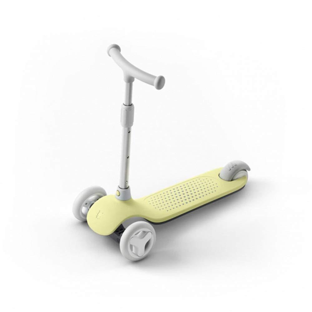 Envío y cambio gratis. amarillo Scooter para niños pequeños Scooter para niños niños niños Tirador con barra ajustable en T de 3 ruedas Patinadores de patada con ruedas de planeador Cubierta ancha para niños de 5 a 14 años Scooter de manillar a  punto de venta de la marca