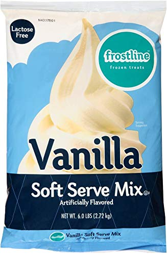 ICE CREAM MIX, SOFT SERVE VANILLA SHELF STABLE BAG, Package of 6
