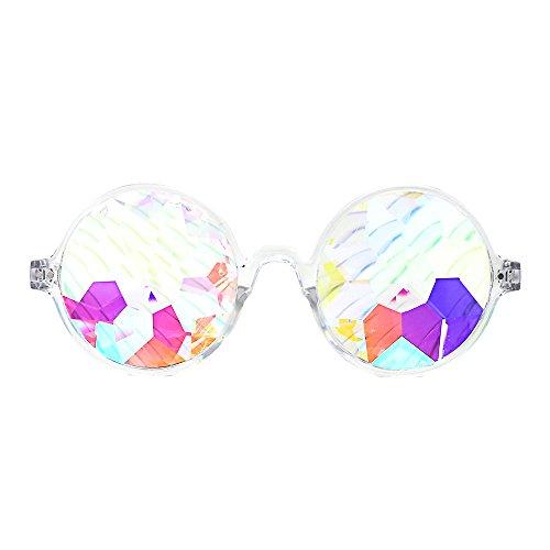 Slocyclub Stylish Geometric Prism Kaleidescope Glasses Sunglasses with Crystal - Sunglasses Sale Prism