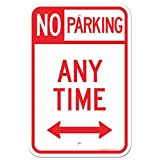 No Parking Anytime Sign, Large 12x18