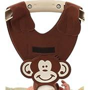 Hands Free Baby Bottle Feeding Tool - Brown Monkey Baby Bottle Holder by Bebe Bottle Sling