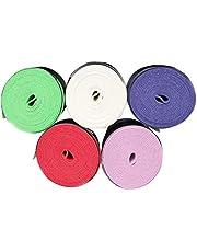 LIOOBO 5pcs Raqueta de Tenis Grip Tape Overgrip Wrap Antideslizante para la Raqueta de Squash Badminton Paddle Bate de béisbol Mango (Color Mezclado)