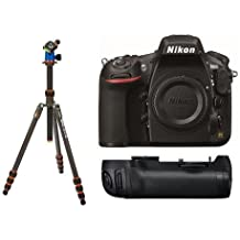 Nikon D810 DSLR Camera (Body Only) - Bundle With MB-D12 Multi Battery Power Pack/Grip, 3 Legged Thing Billy 5-Section Carbon Fiber Tripod with AirHed Neo Ballhead
