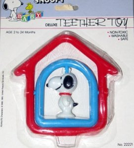Peanuts Baby Snoopy Deluxe Teether Toy