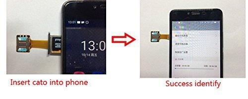 TECNOIOT Hybrid Dual SIM Card Adapter Micro SD Nano SIM Extension