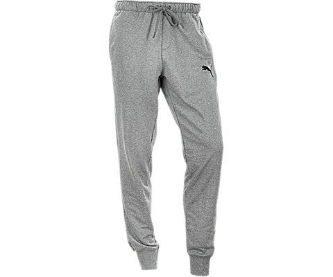 PUMA Men's P48 Core Pants French Terry Cuffed, Grey, L