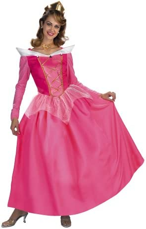 Princess Aurora Adult Costume Sleeping Beauty Cosplay Pink Dress Halloween