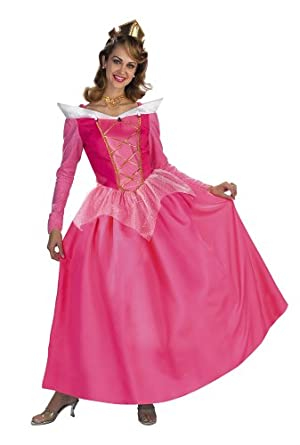 Superb Sleeping Beauty Disney Princess Aurora Prestige Adult Costume: Size 12 14  Misses Large