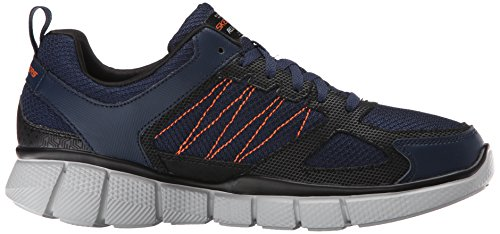 Skechers Sport Mens Equalizer 2,0 Sann Balans Sneaker Marin / Orange