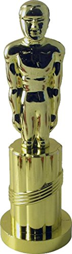 Adult Fancy Party Costume Accessory Award Oscars Plastic Statue Trophy Gold