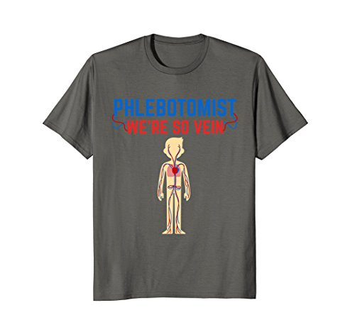 Mens Funny Phlebotomist T Shirt - Were So Vein XL (Halloween Costumes For Nurses To Wear To Work)