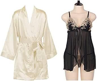 IngerT Bridal Robe with Dress Panty Set for Women
