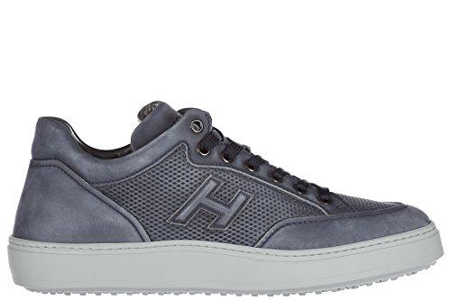 Hogan Zapatos Zapatillas de Deporte Hombres EN Piel Nuevo Mid Cut Blu