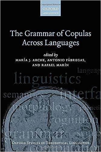 Descargar Por Elitetorrent The Grammar Of Copulas Across Languages Ebook PDF