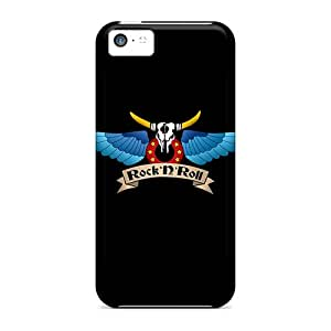 Excellent Iphone 5c Case Tpu Cover Back Skin Protector Rocknroll Wings