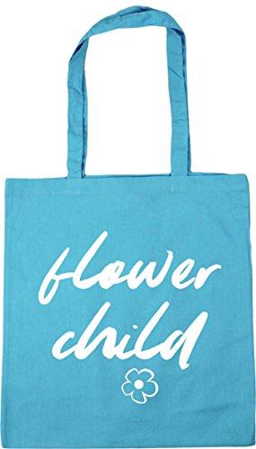 Gym litres Tote Blue x38cm Surf HippoWarehouse Flower 10 42cm Beach Bag Child Shopping 1RqIq7Uw