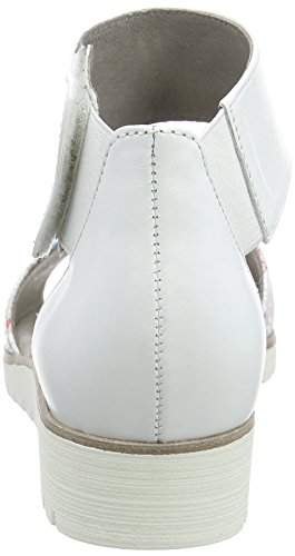 Gabor Shoes Fashion, Sandalias con Cuña para Mujer Blanco (weiss 40)