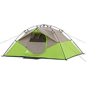 Ozark Trail Instant Dome Tent - 4 Person Green/Light Grey