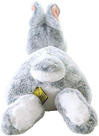 Pet Choker Sunlemon Cuddly Plush Fluffy Gray Rabbit Lap stuffed Hiza Usagi GY