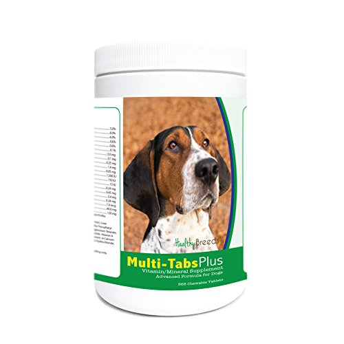 (Healthy Breeds Dog Liver Flavored Multivitamin Tablets for Treeing Walker Coonhound - Over 200 Breeds - Liver Flavor - Easier Than Powder or Liquids - 365 Tabs)