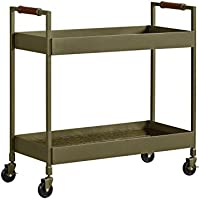 Novogratz DA7621 Dorel Living Waylon Bar Cart, Brass finish