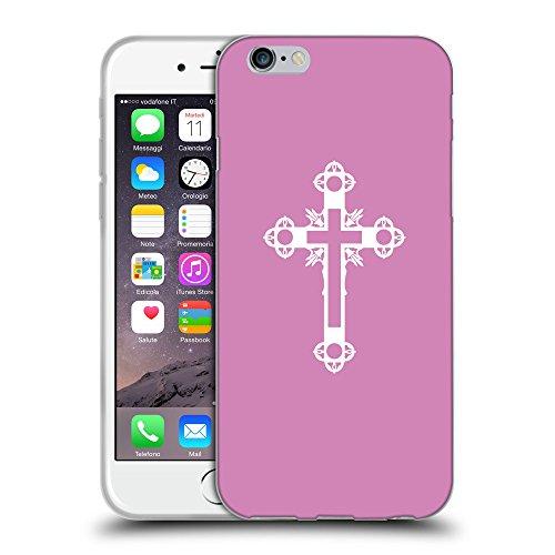 GoGoMobile Coque de Protection TPU Silicone Case pour // Q09330618 Croix chrétienne 43 Bronze // Apple iPhone 7