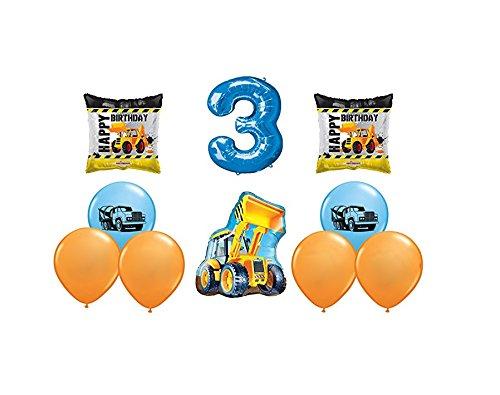partybyspursgrl Happy 3RD Birthday Construction Mega Balloon