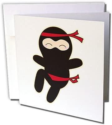 3dRose Kawaii Estilo Ninja personajes de dibujos animados ...