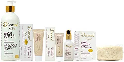 Diamond Glow All in 1 Set (Lotion 16.8oz + Soap 7oz + Cream 1.7oz + Gel 1oz + Serum 1.66oz)