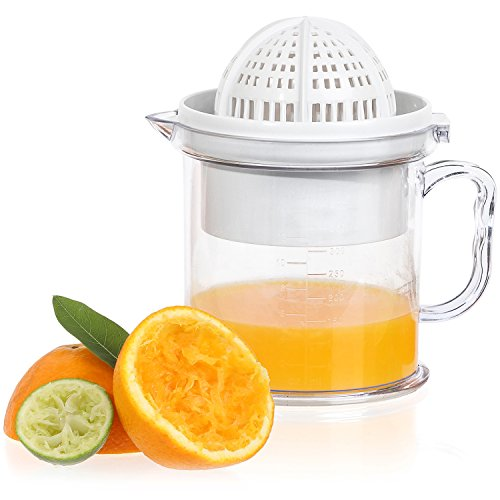 Jumbl 2-in-1 Citrus Juicer & Manual Berry Fruit Press Squeezer - Bowl Doubles as a Serving Cup w/ a Handle & Measuring Markings (Manual Orange Juicer Press compare prices)