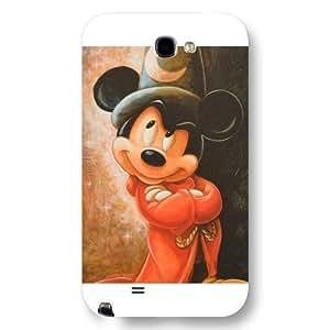 Customized White Hard Plastic Disney Cartoon Mickey Mouse Samsung Galaxy Note 2 Case WANGJING JINDA