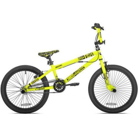 "Thruster 20"" Chaos Boys' BMX Bike Sturdy Gusseted Steel Frame and Fork (Neon Yellow)"