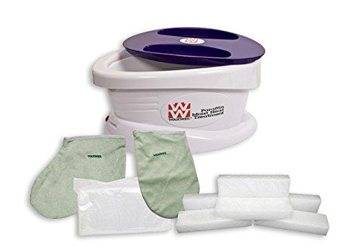 WaxWel paraffin bath w/6 lb paraffin, liners, mitt, bootie