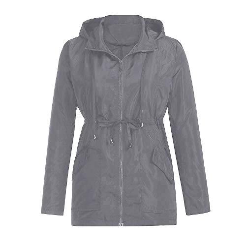 Serrage Plein YEBIRAL en Femmes Manteau air avec de de Automne et Unie Pluie Nouveau Hiver Veste Couleur Poche Cordon 00qrZwY