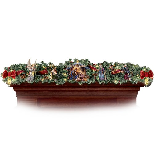 Thomas Kinkade Nativity Garland Set by Hawthorne Village