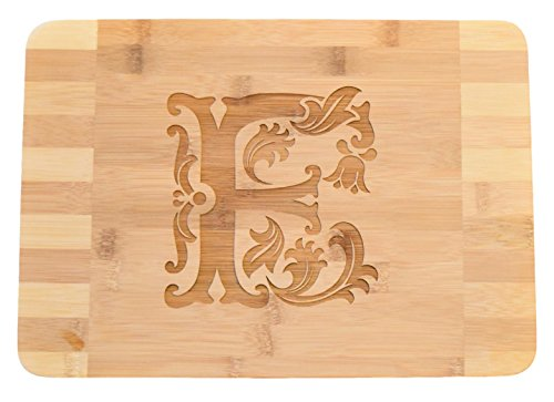Personalized/Custom Engraved Monogram Bamboo Wood Cutting Board - 13.5