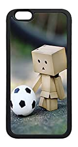 iPhone 6 Plus Case, Danbo Football TPU Rubber Bumper Polycarbonate Hybrid Case Full Protection Case for iPhone 6 Plus 5.5 Black