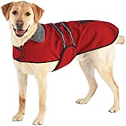Casual Canine Velvet/Polyester Reflective Dog Jacket, XX-Large, 30-Inch, Red