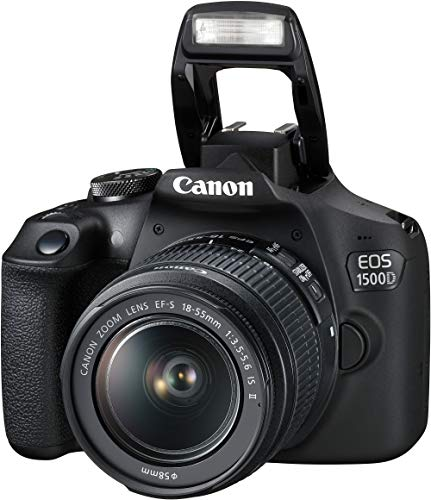 Canon EOS 1500D 24.1 Digital SLR Camera (Black) with EF S18-55 is II Lens, 16GB Card and Carry Case 4