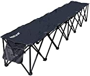 Franklin Sports Sideline Team Bench – 6 Person – Collapsible Sport Bench – No Assembly – Instant Seating – All