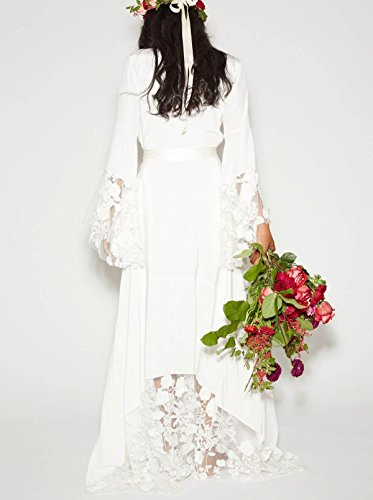 Dressesonline Women S Winter Bohemian Wedding Dresses Bridal Gowns With Long Sleeves