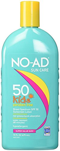 NO-AD Kids Gentle Sunscreen Lotion, SPF 50 16 oz by No-Ad