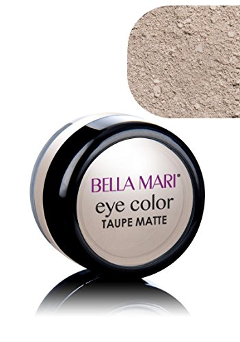 Bella Mari Natural Mineral Eyeshadow, Taupe (Matte); 0.1oz