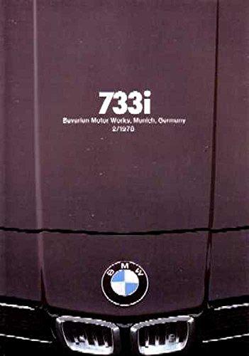 1978 BMW 733 I Sales Brochure Literature Piece Brochure Advertisement Options (Brochure Sales Bmw)