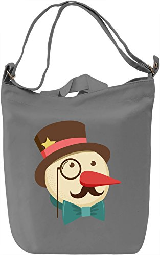 Snowman Borsa Giornaliera Canvas Canvas Day Bag| 100% Premium Cotton Canvas| DTG Printing|