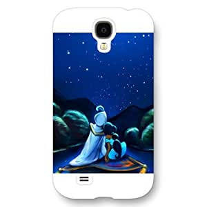 Customized White Frosted Disney Cartoon Movie Aladdin Jasmine Samsung Galaxy S4 Case