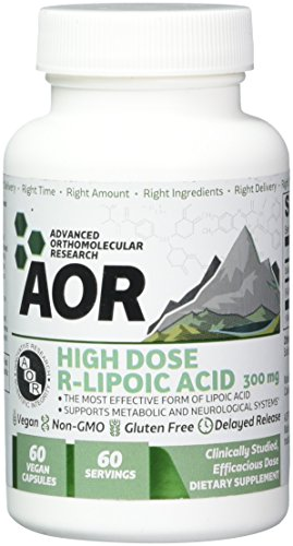 Advanced Orthomolecular Research – High Dose R-Lipoic Acid, Antioxidant Support for Healthy Aging, Cognition, and Nerve Health with Active Lipoic Acid, Vegan, Non-GMO, Gluten-Free, 60 Capsules Review