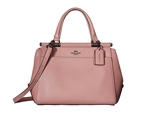 COACH Women's Drifter Satchel in Polished Pebble Leather Dk/Dusty Rose One Size by Coach
