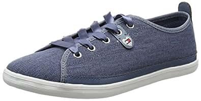 Tommy Hilfiger K1285eira HG 1d1, Zapatillas Para Mujer, Azul (Jeans 013), 37 EU